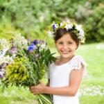 Midsummer smiling girl
